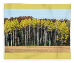 Aspen Triptych Fleece Blanket