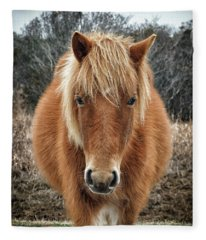 Assateague Island Horse Miekes Noelani Fleece Blanket