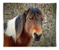 Assateague Island Pony Patricia Irene Fleece Blanket