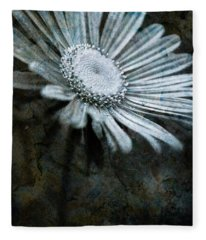 Aster On Rock Fleece Blanket