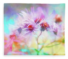 Asters Gone Wild Fleece Blanket