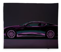 Aston Martin Dbs V12 2007 Painting Fleece Blanket