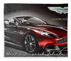 Aston Martin Vanquish Volante  Fleece Blanket