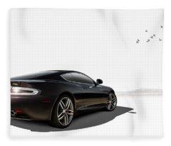 Aston Martin Virage Fleece Blanket