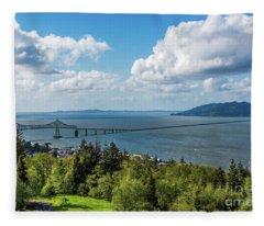 Astoria - Megler Bridge Fleece Blanket