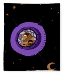 Astronaut In Deep Space Fleece Blanket