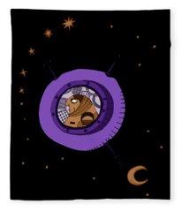 Astronaut In Deep Space Fleece Blanket