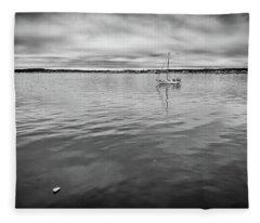 At Anchor In The Harbor Fleece Blanket