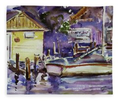 At Boat House 3 Fleece Blanket