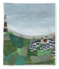 At Home By The Sea  Fleece Blanket