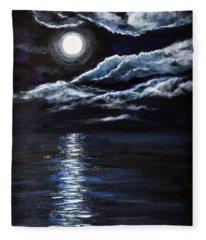 At Moonlight Fleece Blanket