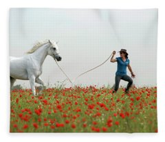 At The Poppies' Field... 2 Fleece Blanket