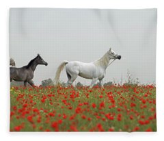 At The Poppies' Field... Fleece Blanket
