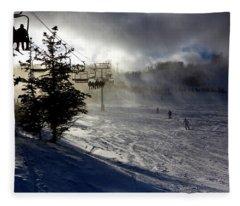 At The Ski Slope Fleece Blanket