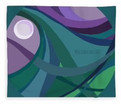 aTARDEcer malva I Fleece Blanket