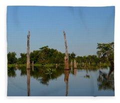 Atchafalaya Basin 18 Fleece Blanket