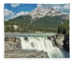 Athabasca Falls Fleece Blanket