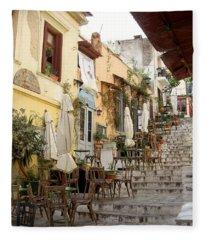 Athens Cafe Fleece Blanket