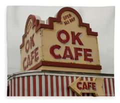 Atlanta Classic Ok Cafe Atlanta Restaurant Art Fleece Blanket