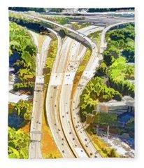 Atlanta Highways Fleece Blanket