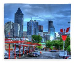 Atlanta Landmark The Varsity Art Fleece Blanket