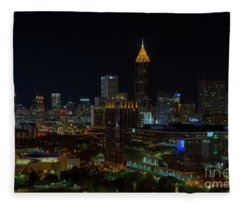 Atlanta Nights Fleece Blanket