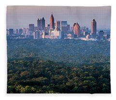 Atlanta Skyline Fleece Blanket