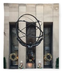 Atlas Statue Fleece Blanket