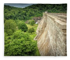 Atop The Croton Dam Fleece Blanket