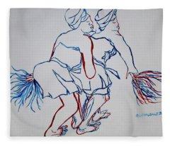 Atsiagbekor Traditional Dance Togo Fleece Blanket