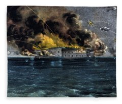Attack On Fort Sumter Fleece Blanket