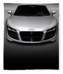 Audi R8 Sports Car Fleece Blanket