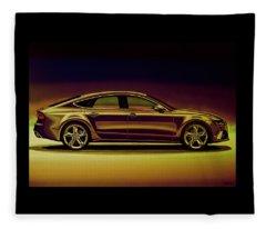 Audi Rs7 2013 Mixed Media Fleece Blanket