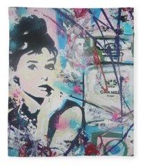 Audrey Chanel Fleece Blanket