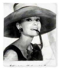 Audrey Hepburn 2 Fleece Blanket