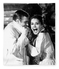 Audrey Hepburn As Holly Golightly Fleece Blanket