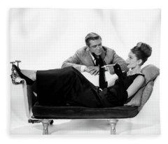 Audrey Hepburn Holly Golightly Breakfast At Tiffanys  Fleece Blanket