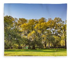 Audubon Park New Orleans Fleece Blanket