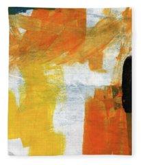 August- Abstract Art By Linda Woods. Fleece Blanket