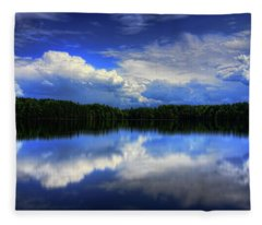 August Summertime On Buck Lake Fleece Blanket