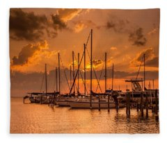 August Sunset Fleece Blanket