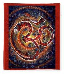 Aum - Vibrations Of Supreme Fleece Blanket
