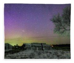 Aurora At The Old Ranch Fleece Blanket