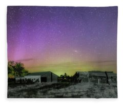 Aurora At The Old Ranch Fleece Blanket