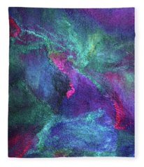 Aurora Borealis Lights Fleece Blanket