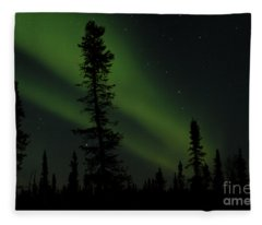Aurora Borealis The Northern Lights Interior Alaska Fleece Blanket