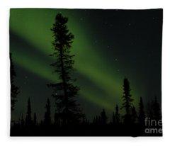 Aurora Borealis The Northern Lights Interior Alaska Fleece Blanket