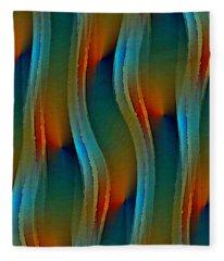 Aurora Oil Fleece Blanket