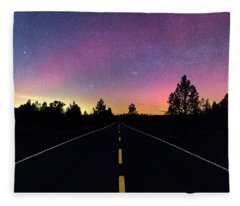 Aurora Road Fleece Blanket