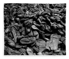 Auschwitz-birkenau Shoes Fleece Blanket